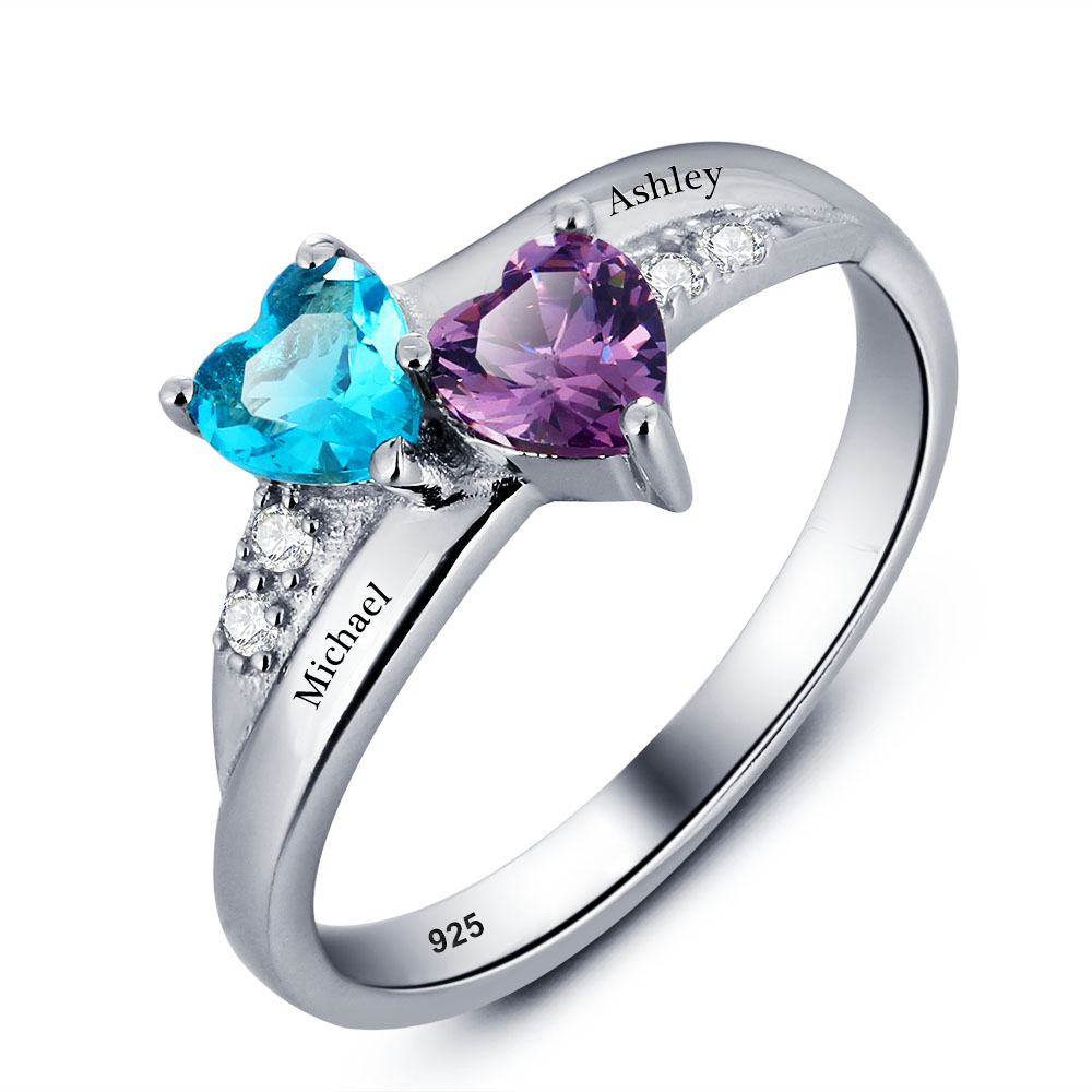 diamond heart birthstone products ring april rings deals